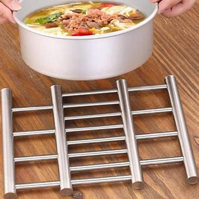Small Stainless Steel Kitchen Trivet Worktop Saver Pot Pan Stand Rack Lc Ebay