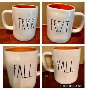Rae-Dunn-Fall-Y-039-All-Trick-Treat-Double-Sided-Halloween-Mugs-You-Choose