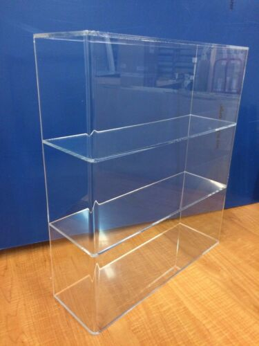 "Acrylic Lucite Countertop Display Case ShowCase Box Cabinet 14/""w x 4 1//4/"" x 16/""h"