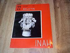 5  Boletin INAH - Instituto Nacional De Antropologia E Historia 1965-1966 ILLUS