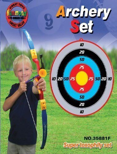 SUPER TOXOPHILY SET Outdoor Archery set with 3 cup arrows and Target for kid 3