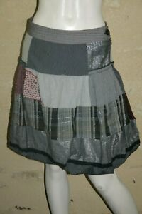 DESIGUAL-Taille-36-Superbe-jupe-boule-doublee-grise-grey-skirt