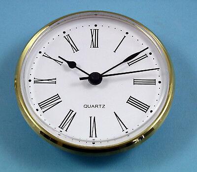 MEGA-QUARTZ German 100mm BEZEL QUARTZ CLOCK insert  retro gold roman dial