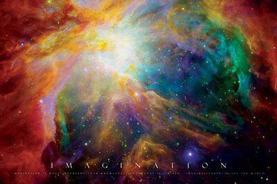 Imagination-Nebula-Motivational, Photography Poster Print Wall Art Home Decor