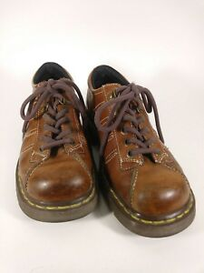 Dr-Doc-Martens-Air-Wair-Brown-Oxford-Lace-Up-9764-Mens-Size-7-Womens-Size-8