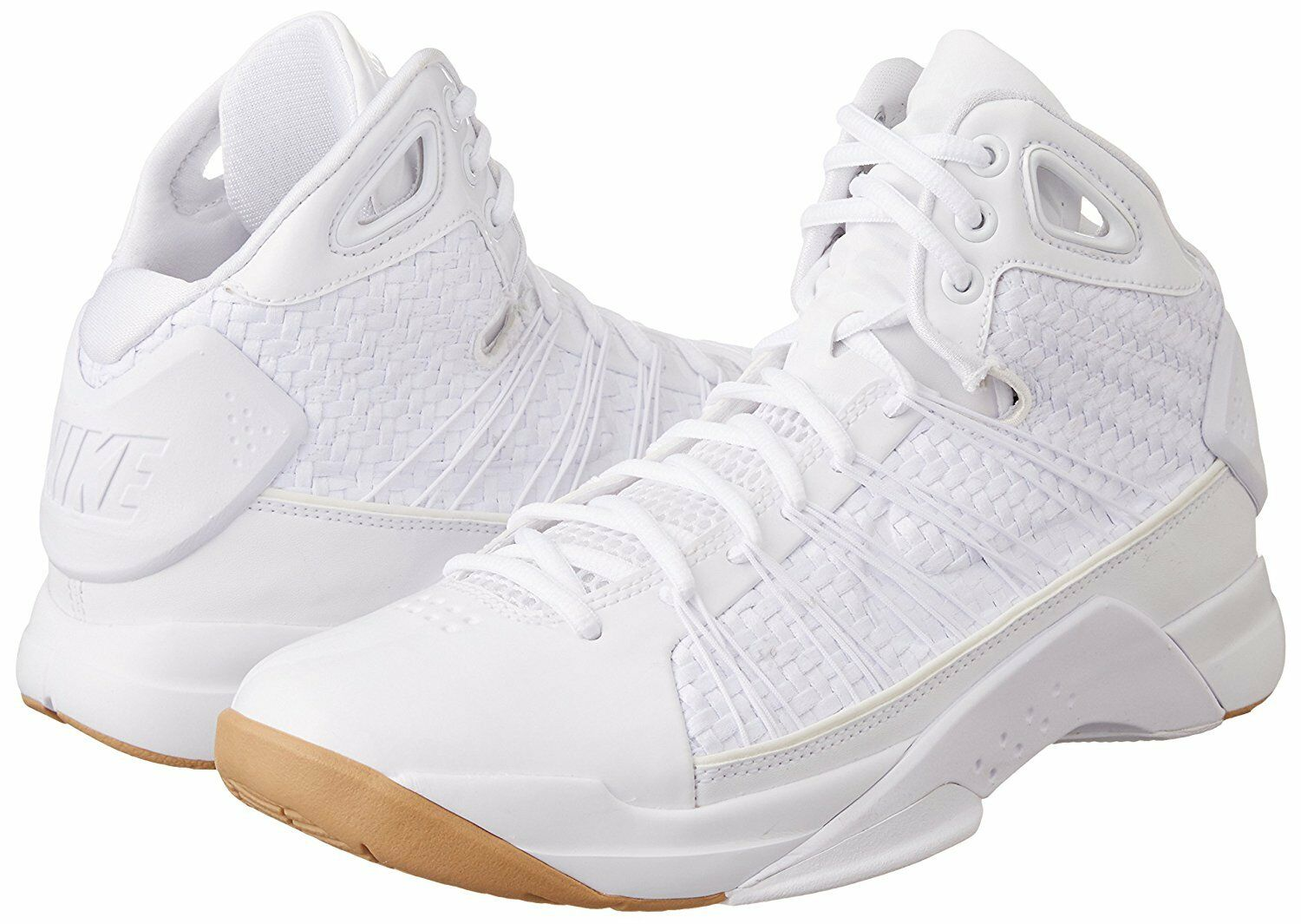 NIKE HYPERDUNK LUX WHITE PATENT GUM LIGHT BROWN 818137 100 NEW 170 7.5-15