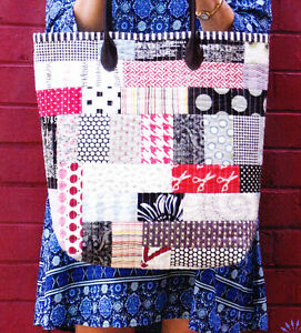 PATTERN-Sew-N-Go-Tote-pieced-bag-PATTERN-Lynne-Wilson