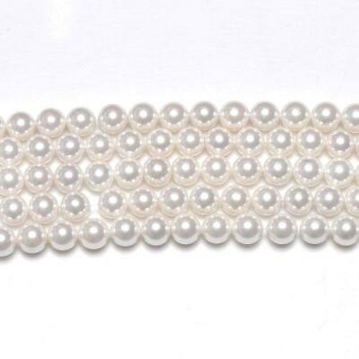 Pcs Art Hobby Jewellery Making South Sea Shell Pearl Round Beads 6mm White 62