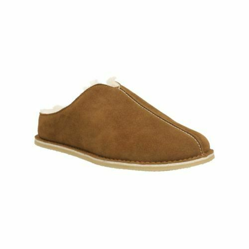 Clarks Kite Stitch Cola Suede Mwn's Slippers Size UK 7G