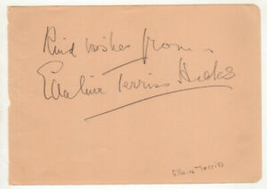 Ellaline-Terriss-Cut-Signature-Autograph-The-Iron-Duke-Scrooge-Blighty