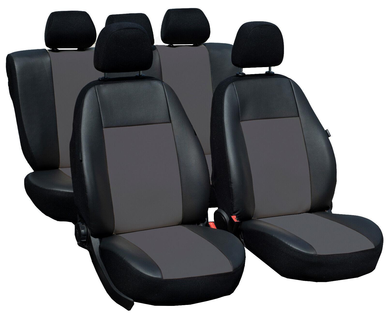 Schwarz Set Premium Kunstleder Sitzbezüge Sitzbezug Schonbezüge für VW Up
