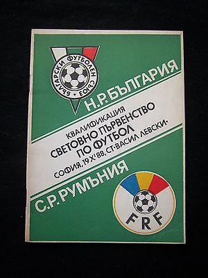Das Beste Orig.prg Wm Qualifikation 19.10.1988 Bulgarien - RumÄnien !! Selten Gutes Renommee Auf Der Ganzen Welt