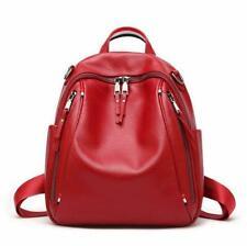 New Women/'s Genuine Cow Leather Backpack Travel Bag Handbag Fashion @US M