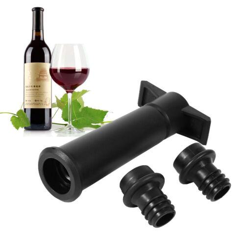 2 Stoppers Reusable Bottle Vacuum Wine Sealer Preserver Saver Pump