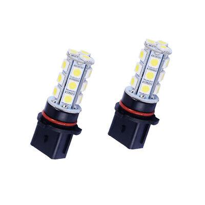 2x White P13W LED Bulbs 18-SMD For Chevy Camaro Fog Lamp Driving Light