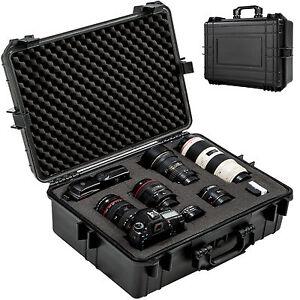Foto-hard-case-box-bag-camera-photography-travel-protective-waterproof-black-new