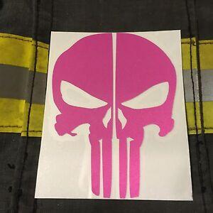 PUNISHER SKULL REFLECTIVE FIRE HELMET DECALS FIRE HELMET STICKER - Fire helmet decals
