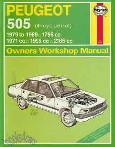 peugeot 505 shop manual service repair book haynes chilton ebay rh ebay com Peugeot 207 Battery Description Peugeot Scooters USA