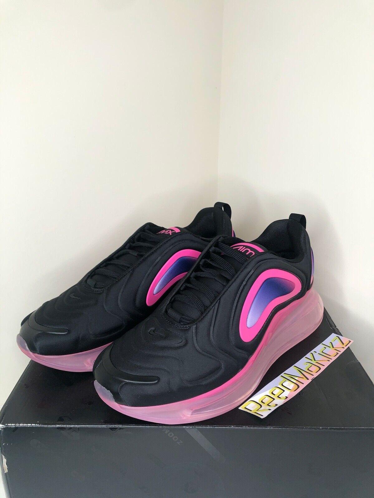 Nike Air Max 720 Black Pink Blast Running Shoes Mens Size 14 Ao2924 005