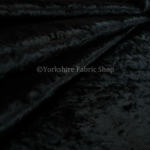 Durable Soft Shine Luxury Interior Furnishing Velvet Upholstery Fabric New Black