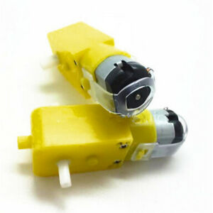 Low-Speed-Magnetic-DC-Dual-Shaft-Gear-Motor-For-Toy-Robot-Plane-Class-Car-4WD