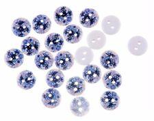 "Lot of 10 FLOWERS Wooden Buttons 5/8"" (15mm) Scrapbook Crafts (0892)"