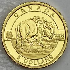 Canada 2014 $5 Bison 'O Canada' 1/10 oz. 99.99% Pure Gold Proof Coin