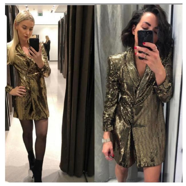 ZARA GoldEN BLAZER DRESS Größe XS