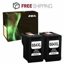 4PK for HP 664XL Black Color Ink Cartridge Show Ink Deskjet 1115 2136 3636 3836