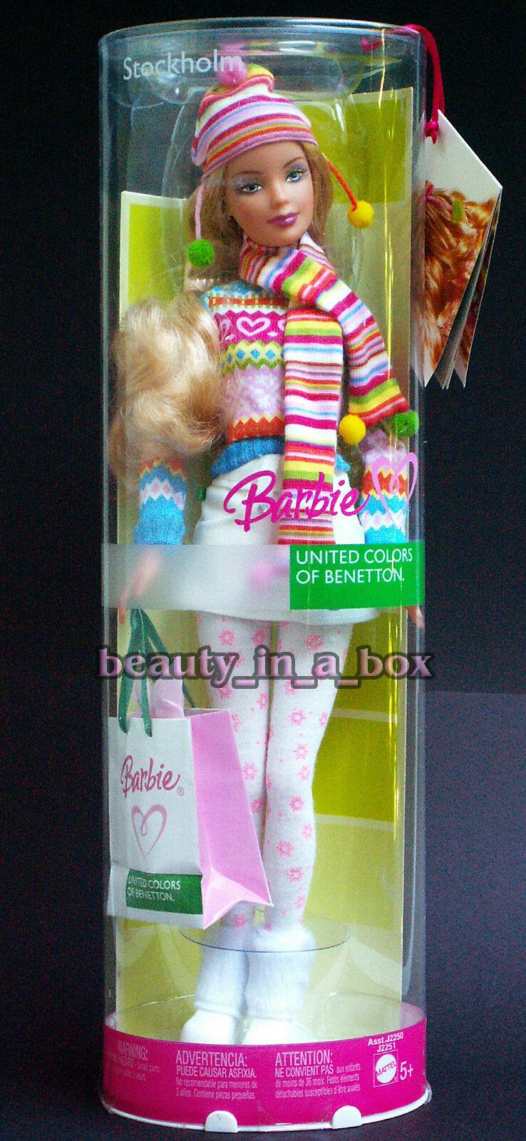 Muñeca Barbie De Estocolmo  United Colors of Benetton Moda Italia Italiana  raros