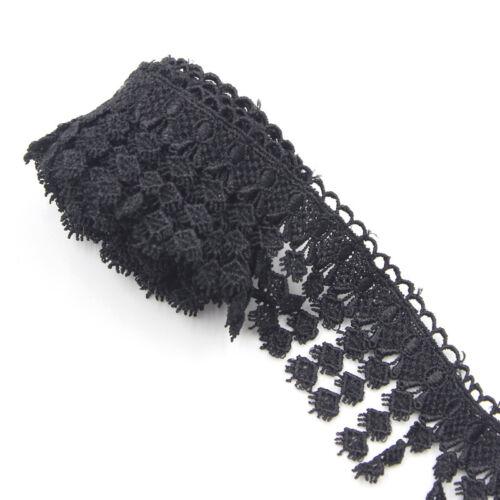 2 Yards Weiß Schwarz Lace Borten Stickerei Spitzeband Spitze Nähen Handwerk NEU