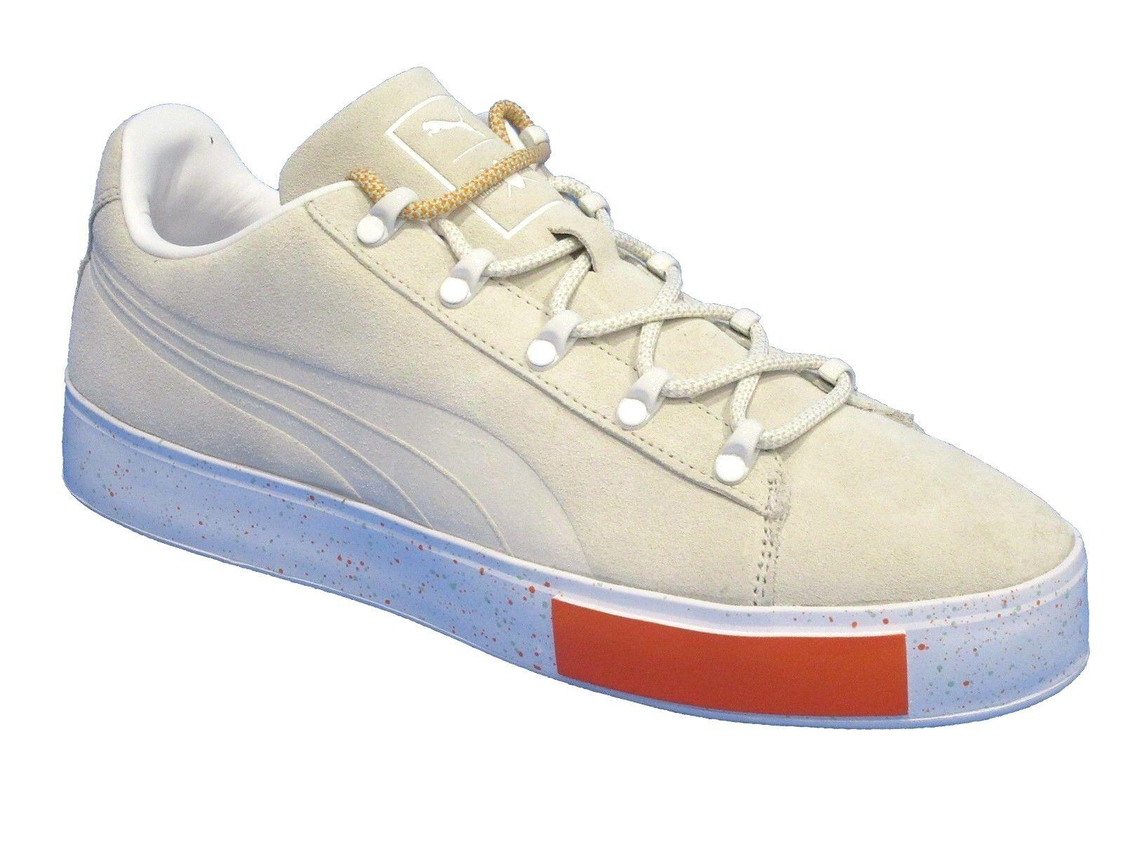 PUMA x DP Court Platform SS Men Round Toe Suede Green Sneakers