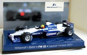 MINICHAMPS-Coche-miniatura-WILLIAMS-F1-BMW-FW22-Launch-Version-2001-Metal-1-43