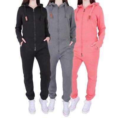 Finchgirl Fg181 Damen Jumpsuit Overall Einteiler Jogging Anzug Trainingsanzug