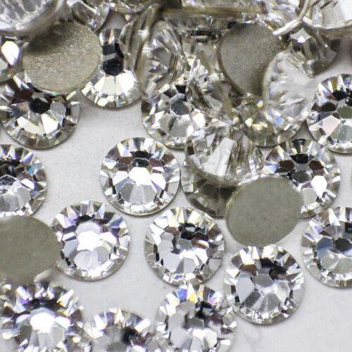 Swarovski Crystals CLEAR flatback non hotfix rhinestones for nail art and design