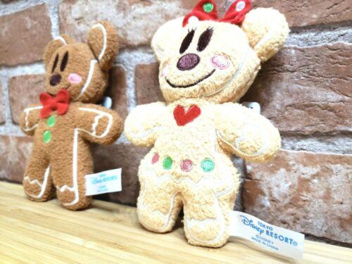 TOKYO Disney GingerBread Mickey /& Minnie Set Plush Doll Pin badge Ginger 2009