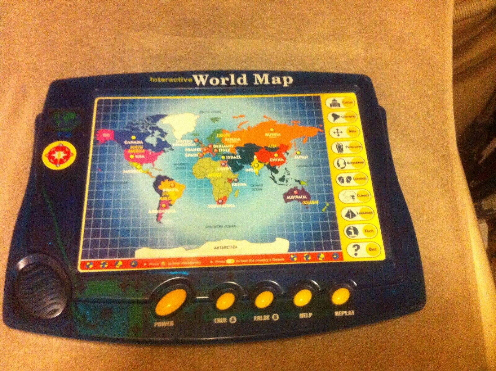 Interactive world map scientific toys battery facts quiz interactive world map scientific toys battery facts quiz free ship vgc ebay gumiabroncs Image collections