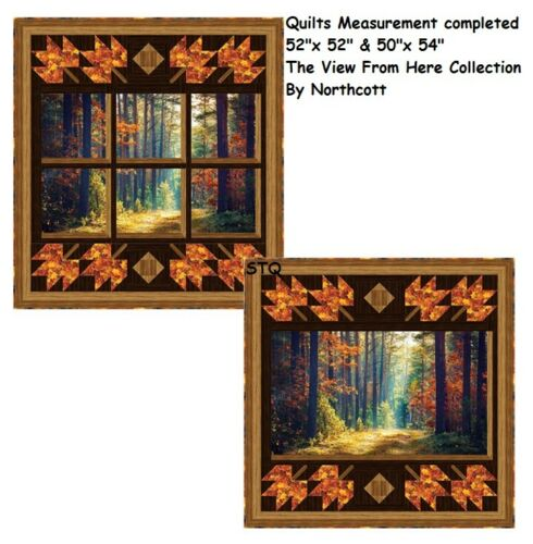 Wish You were Here quilt kit Northcott The View From Here Autumn Stroll 52x52