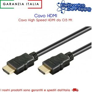 Cavo HDMI da 0.5 mt per Playstation XBOX SKY TV PC PLAYSTATION XBOX SWITCH