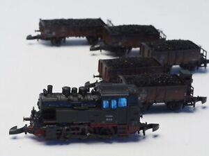 81352-Marklin-Z-scale-Old-Era-Freight-Train-Coal-Transport-cl-80-steam-loco-NEW