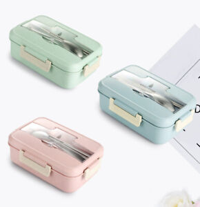 Cute-Bento-Lunch-Box-Dinnerware-Microwave-Food-Container-Children-Office-Work