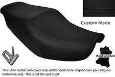 BLACK STITCH CUSTOM FITS HONDA CBR 1000 F 87-88 DUAL LEATHER SEAT COVER