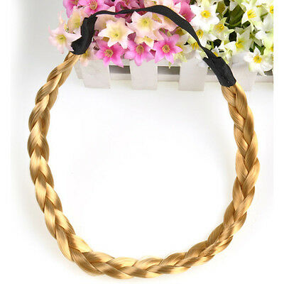 1PCS Women Elastic Plaited Boho Style Hair Hoop Braided Headband Hairband New