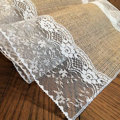 "Shabby-Chic Burlap and Lace Table Runners! (with ""Eliza Grace"" style lace)"