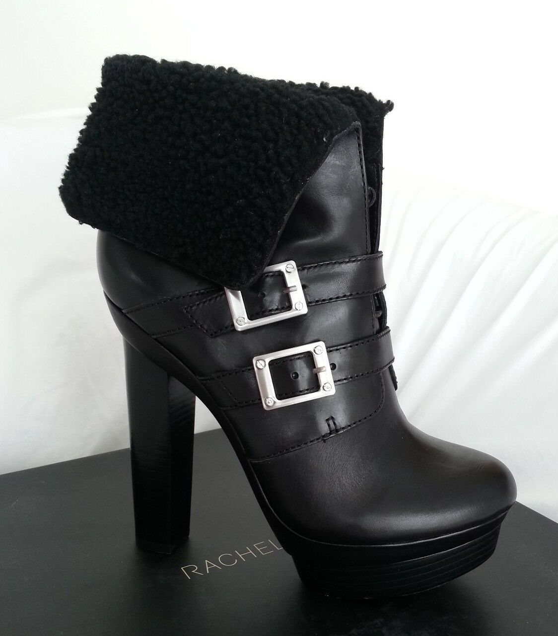 Rachael Zoe Piper Leather & Shearling Lace Up Platform Boot Size 10-NIB-RP  525