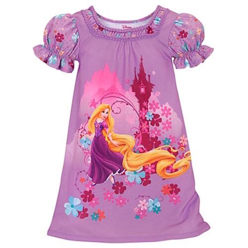 Disney Store Rapunzel Tangled Girls Nightgown Nightshirt Extra Small XS 4 4T