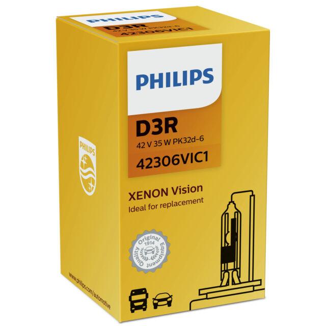 Ampoule Phare Xénon HID Philips Xenon Vision D3R 42306VIC1 (1Pc)