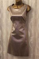 Karen Millen 60s Metallic Champagne Shimmer Panel A Line Shift Party Dress 10 38