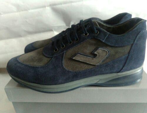 Uomo blu Frank Stile N°43 Sneakers Grigio Paul Santoni Made Nuovo Lacci Italy In AqBRq