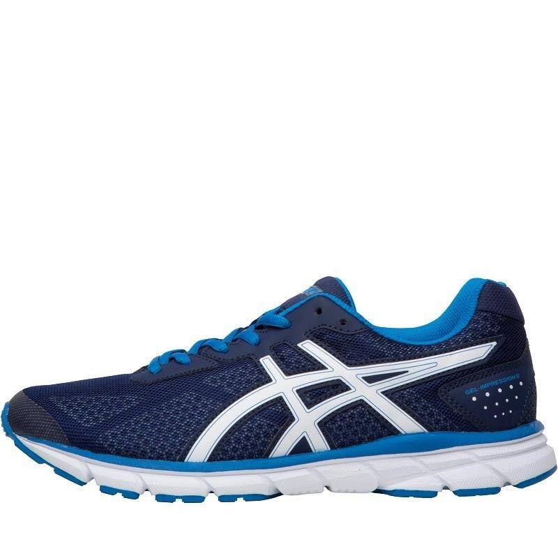 NEW Asics Mens Gel Impression 9 Neutral Running shoes Indigo bluee 10.5 UK  46 EU
